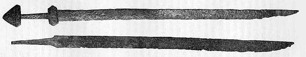 Miecz jednosieczny Typ. C wg. Petersena
